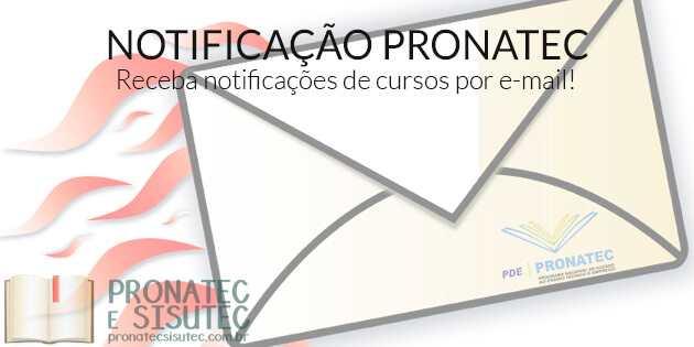 Receber cursos Pronatec por e-mail