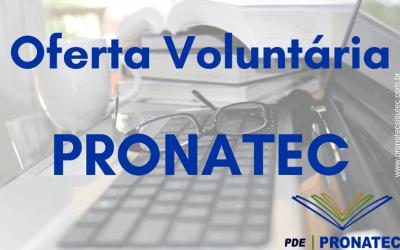Pronatec Oferta Voluntária: Como fazer parte – Calendário