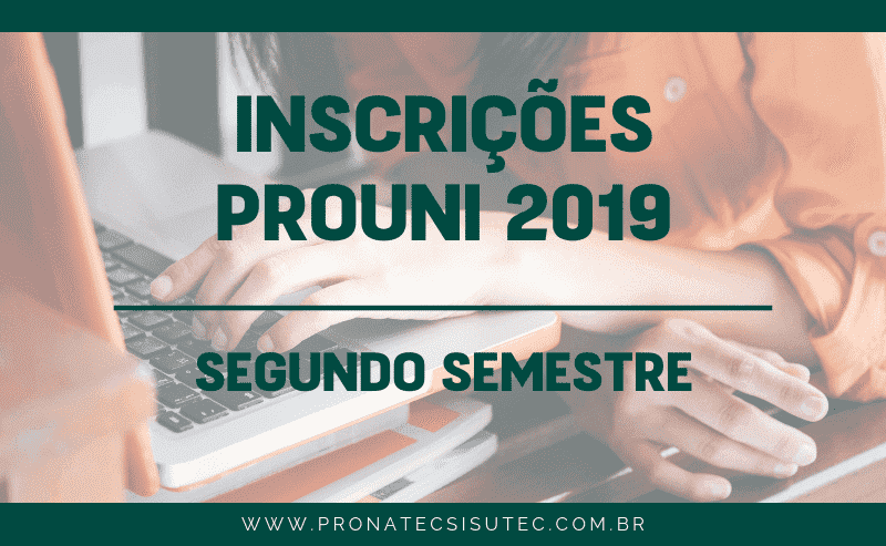 Inscrições Prouni 2019