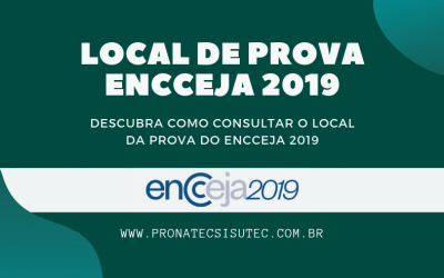 Local da Prova Encceja 2019
