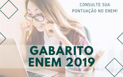 Consulte o Gabarito ENEM 2019 Aqui!