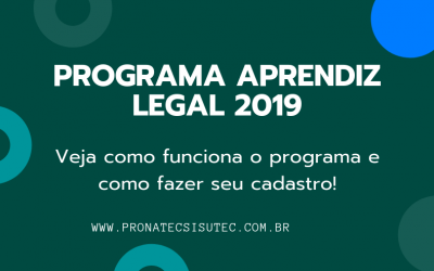 Participe do Programa Aprendiz Legal 2019 – Cadastre-se!