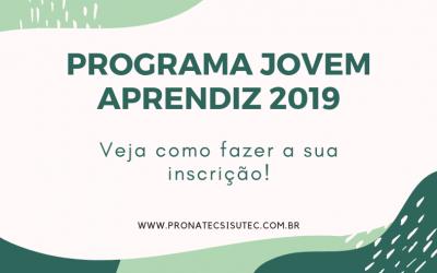 Programa Jovem Aprendiz 2019 – Vagas Abertas!