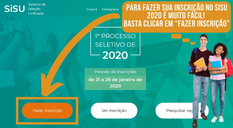 Fazer a Inscrição SISU 2020