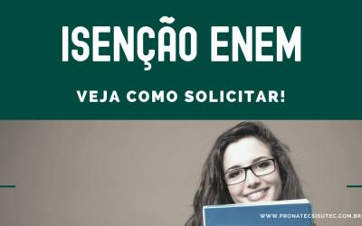 Isenção ENEM 2020 – Resultado Liberado! Consulte!