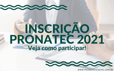 Pronatec Inscrição 2021 – Confira como participar!